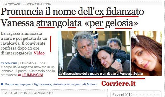 I giornali e la paura della parola femminicidio ex uagdc - Diva e donne giornale ...