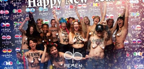 fEMEN HAPPY NEW YEARS