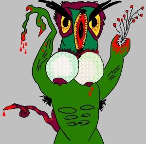 Esemplare di vulva sauro monster