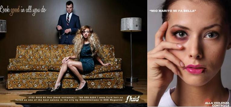 Pubblicità marchio di abbigliamento e campagna sociale contro la violenza sulle donne