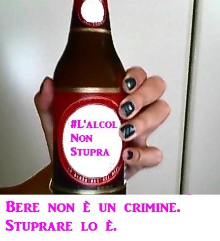 l'alcol non stupra