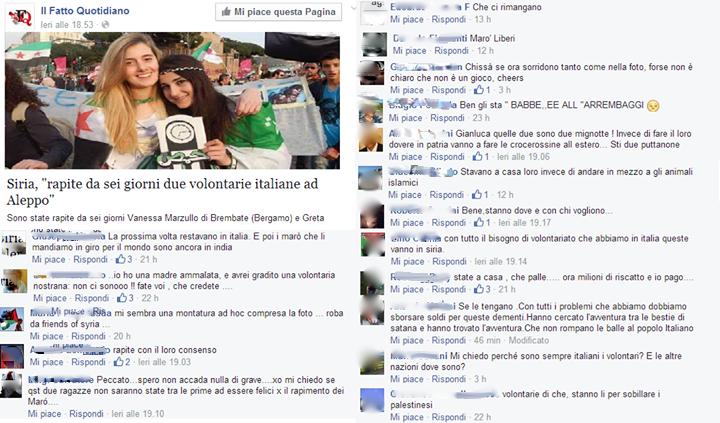 """Immagine presa dalla pagina FB: """"Raccolta statistica di commenti ridondanti"""""""