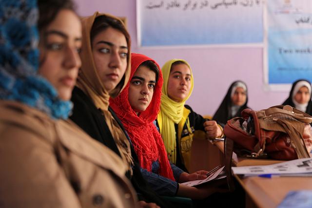 Primo corso di studi femminili e di genere all'Università di Kabul, Afghanistan.